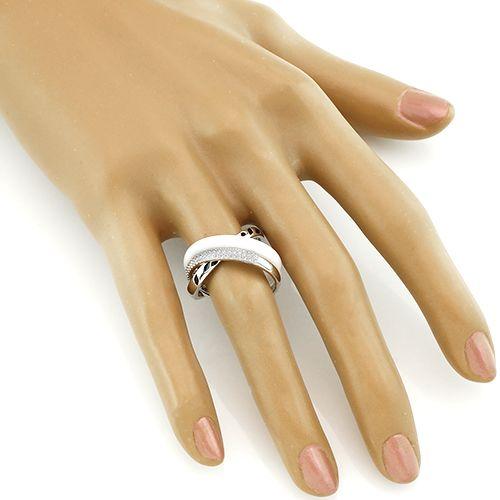 Кольцо с керамикой и эмалью – Mirserebra925.ru