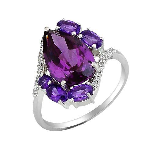 Серебряное кольцо микс камней – Mirserebra925.ru