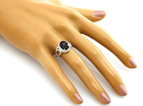 Кольцо с раухтопазом из серебра 925 пробы