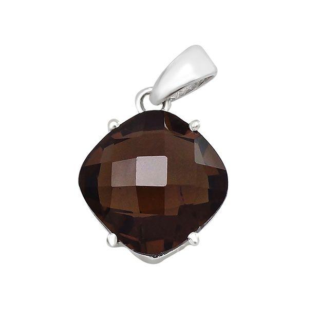 Серебряная подвеска с раухтопазом – Mirserebra925.ru