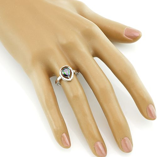 Кольцо с мистик кварцем ‒ Mirserebra925.ru