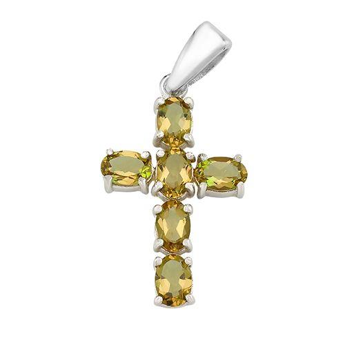 Серебряный крестик с султанитом – Mirserebra925.ru