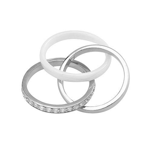 Кольцо с керамикой из серебра 925 пробы – Mirserebra925.ru