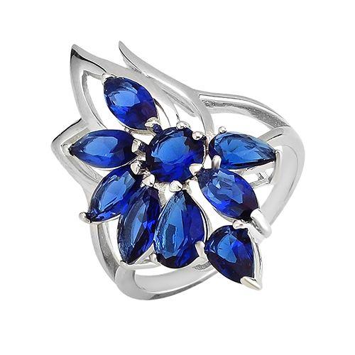 Серебряное кольцо с цирконом ‒ Mirserebra925.ru