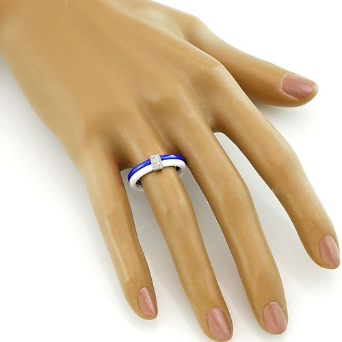 Кольцо из керамики с серебром 925 пробы – Mirserebra925.ru