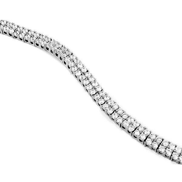 Браслет с цирконами из серебра 925 пробы ‒ Mirserebra925.ru
