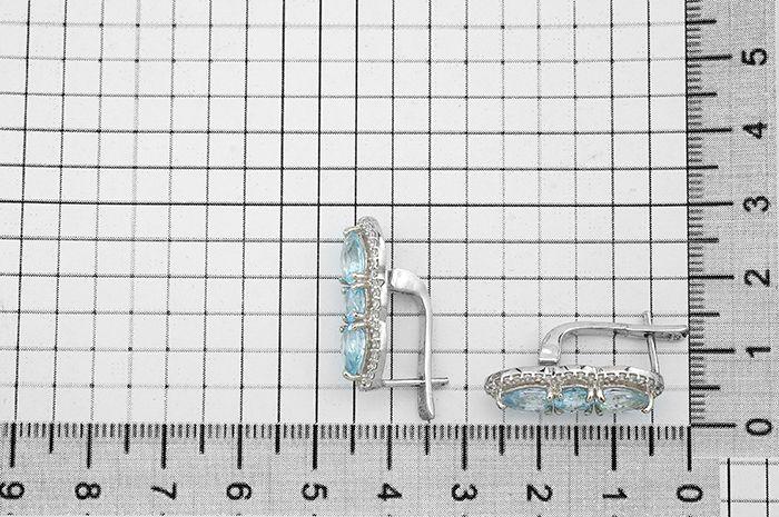 Серьги с топазом серебряные ‒ Mirserebra925.ru