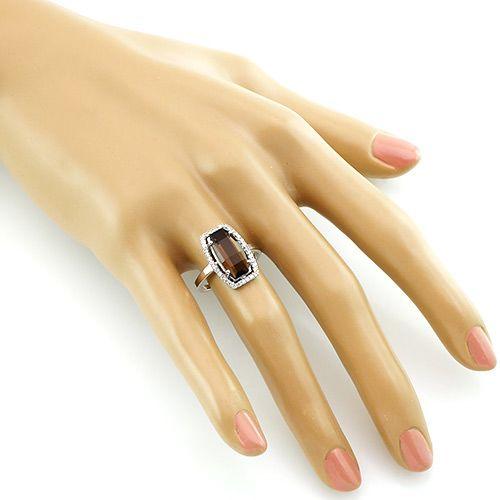 Кольцо с раухтопазом серебряное – Mirserebra925.ru