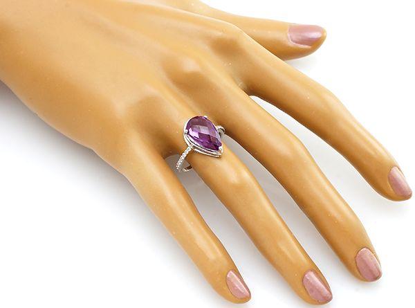 Кольцо с александритом из серебра 925 пробы