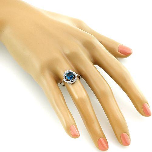 Кольцо с лондонским топазом кварц ‒ Mirserebra925.ru