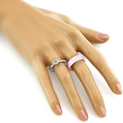 Кольцо с керамикой в серебре 925 пробы – Mirserebra925.ru