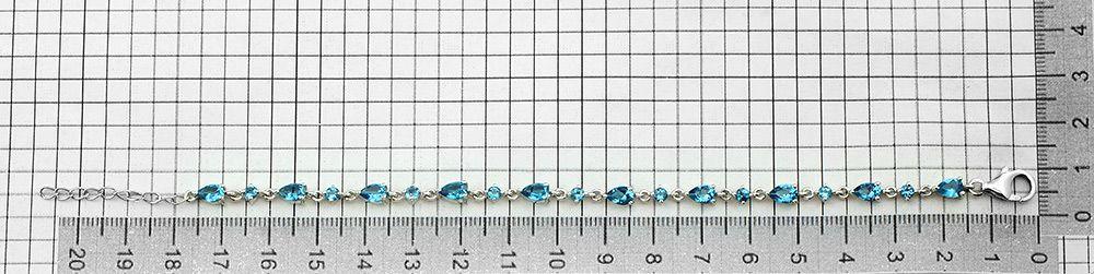 Браслет с лондон топазом кварц из серебра 925 пробы – Mirserebra925.ru