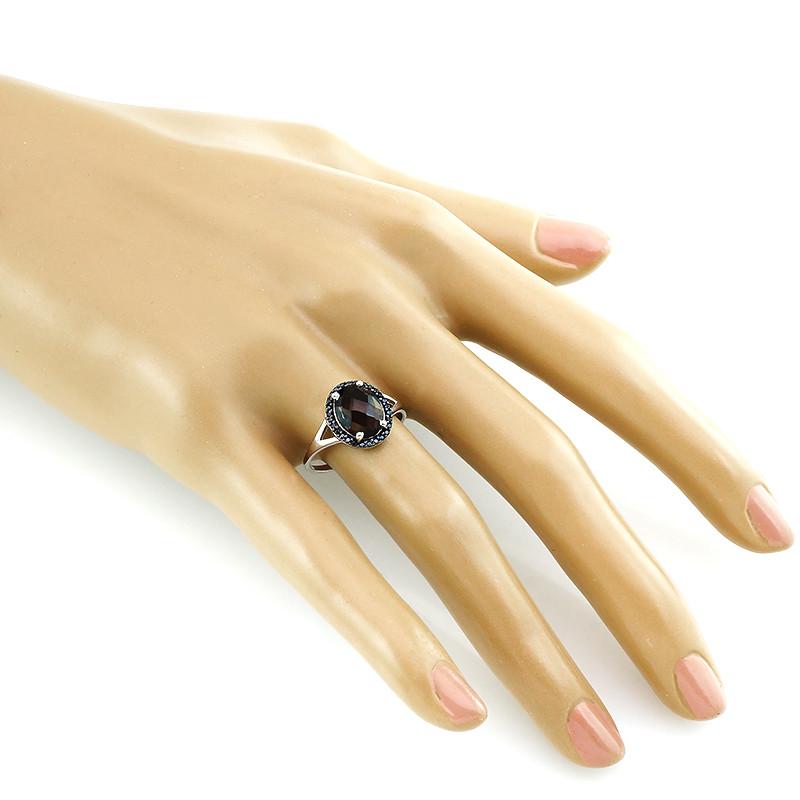 Кольцо с раухтопазом и шпинелью – Mirserebra925.ru