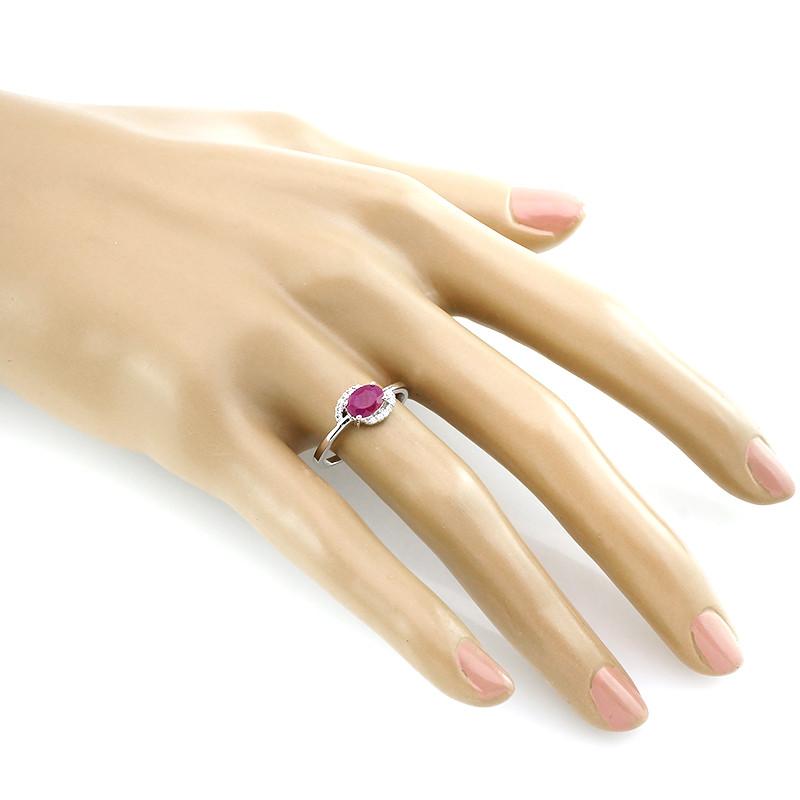 Кольцо с рубином – Mirserebra925.ru