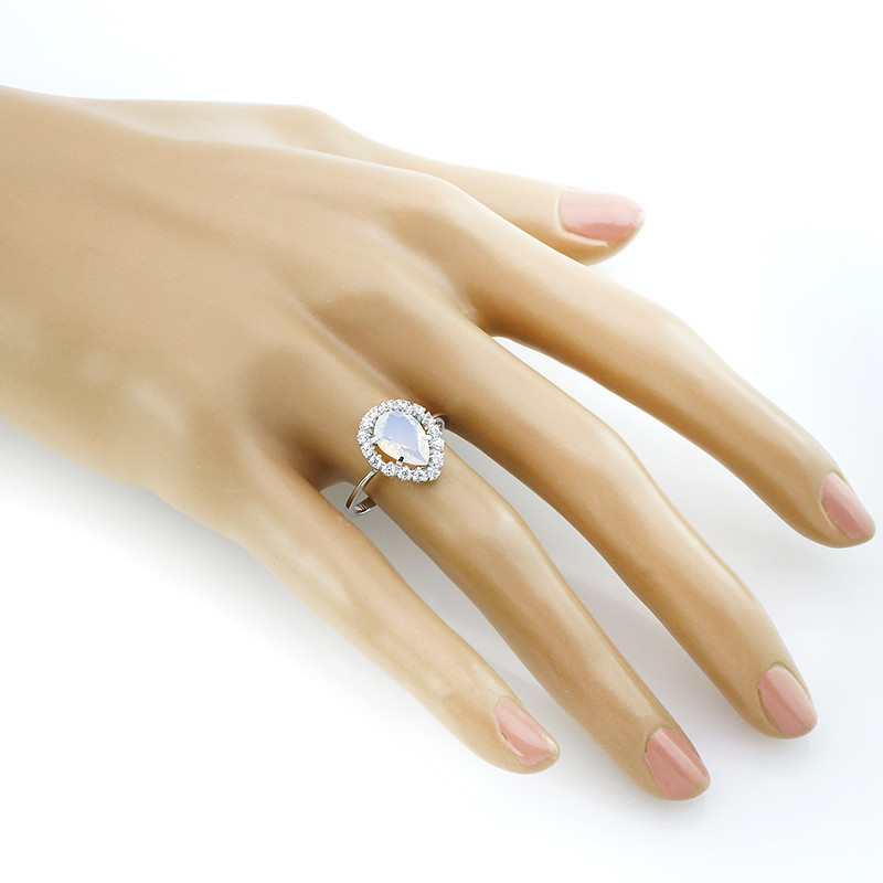 Кольцо с лунным камнем – Mirserebra925.ru