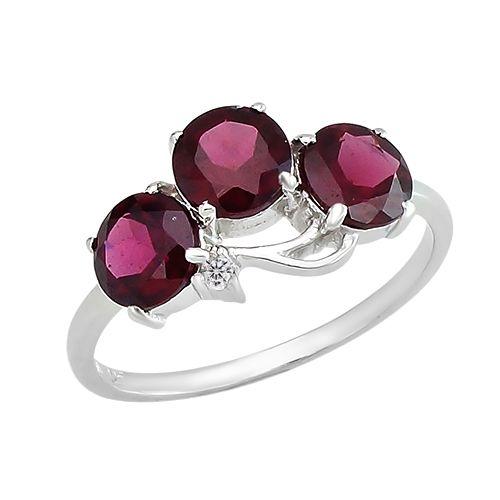 Серебряное кольцо с родолитом – Mirserebra925.ru