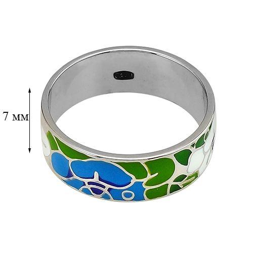 Кольцо с эмалью из серебра 925 пробы ‒ Mirserebra925.ru