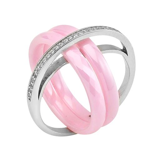 Кольцо с керамикой – Mirserebra925.ru