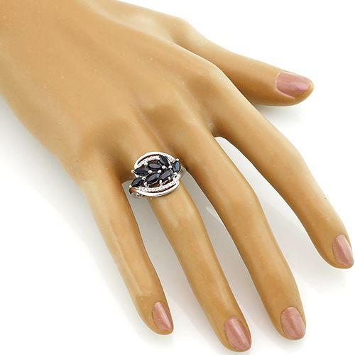 Кольцо с сапфиром – Mirserebra925.ru
