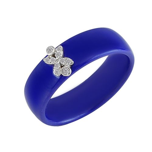 Кольцо из керамики с серебром ‒ Mirserebra925.ru