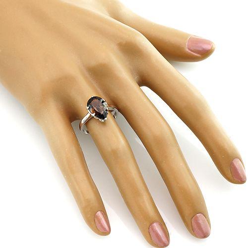 Кольцо с раухтопазом из серебра 925 пробы – Mirserebra925.ru
