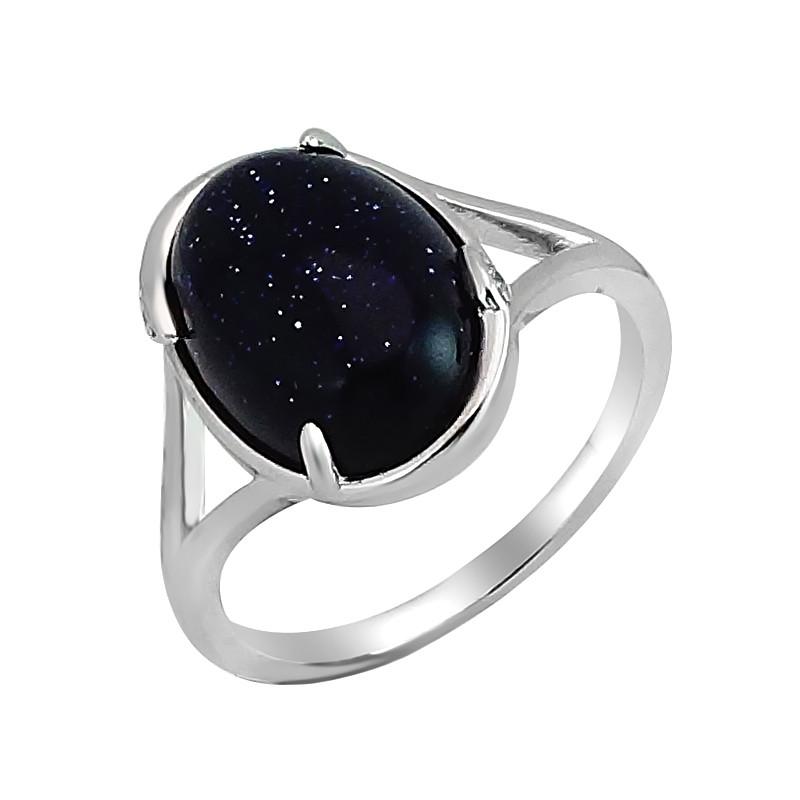 Серебряное кольцо с авантюрином – Mirserebra925.ru