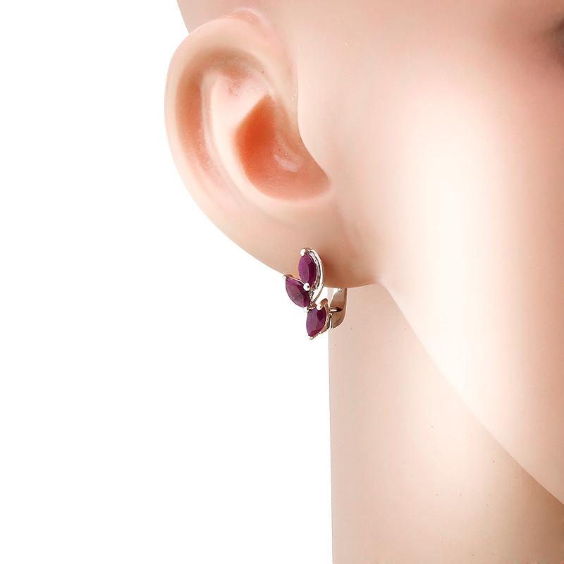 Серьги с рубинами серебряные – Mirserebra925.ru