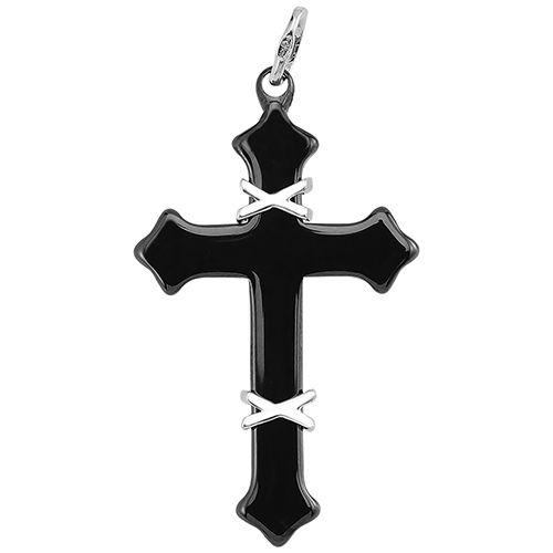 Крестик из керамики с серебром 925 пробы (Оборотная сторона)