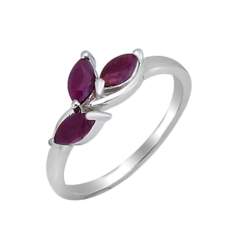 Серебряное кольцо с рубином – Mirserebra925.ru