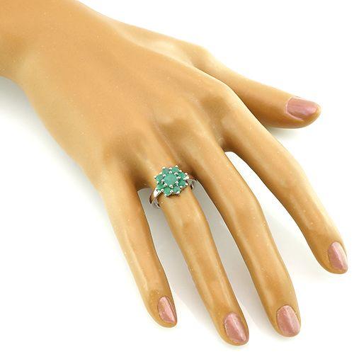 Кольцо с изумрудами – Mirserebra925.ru
