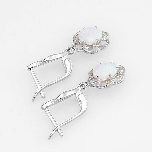 Серьги с опалом из серебра 925 пробы – Mirserebra925.ru