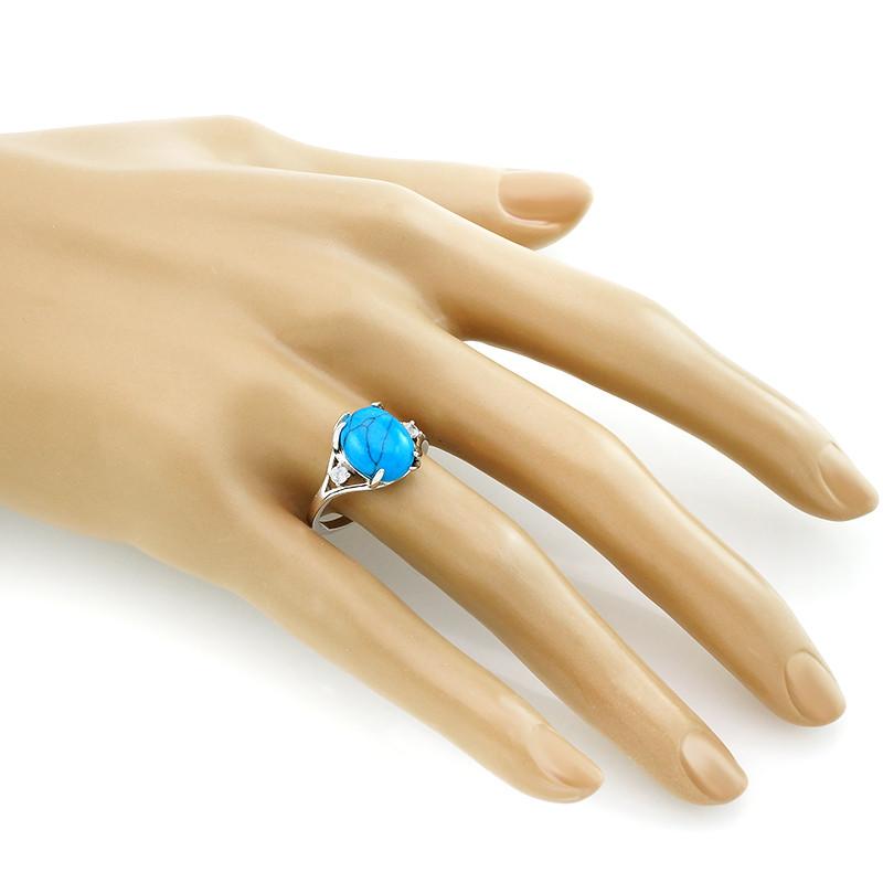 Кольцо с бирюзой ‒ Mirserebra925.ru
