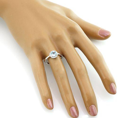 Кольцо с топазом из серебра 925 пробы ‒ Mirserebra925.ru