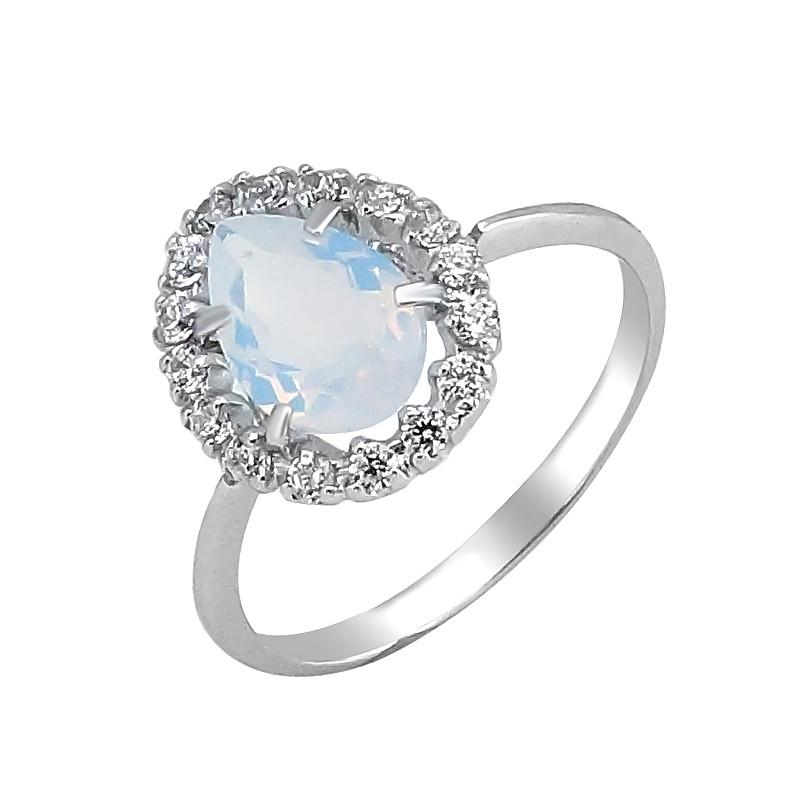 Серебряное кольцо с лунным камнем – Mirserebra925.ru