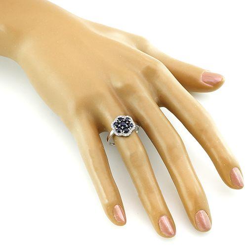 Кольцо с сапфирами – Mirserebra925.ru