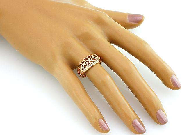Кольцо с цирконом из серебра 925 пробы - Mirserebra925.ru