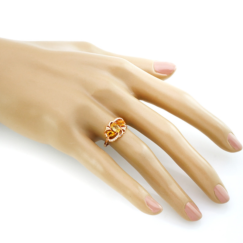 Кольцо с цитрином – Mirserebra925.ru