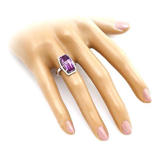 Кольцо с александритом ‒ Mirserebra925.ru