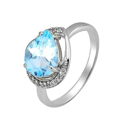 Серебряное кольцо с топазом ‒ Mirserebra925.ru