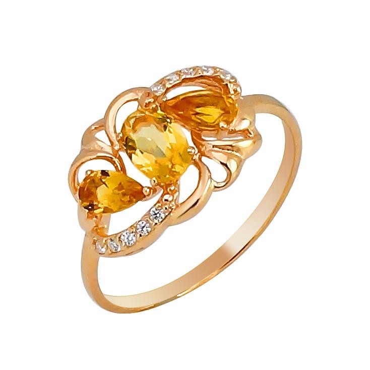 Серебряное кольцо с цитрином – Mirserebra925.ru