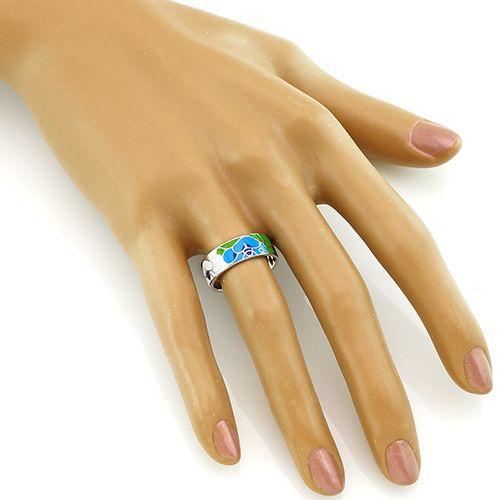 Кольцо с эмалью ‒ Mirserebra925.ru