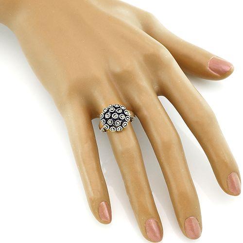 Кольцо с марказитом серебряное ‒ Mirserebra925.ru
