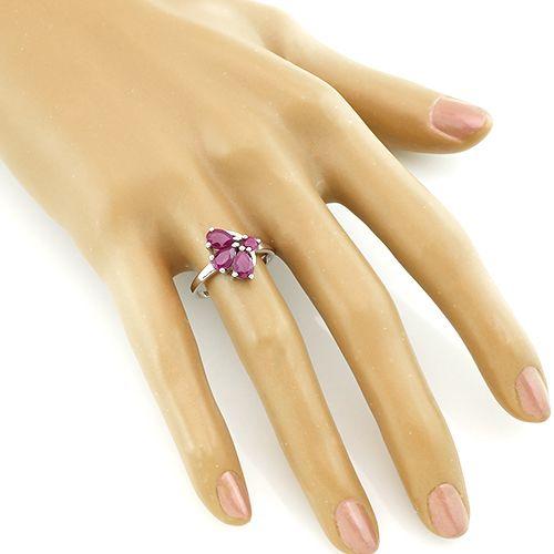 Кольцо с рубинами – Mirserebra925.ru