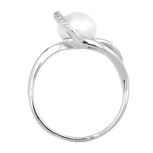 Кольцо с жемчугом ‒ Mirserebra925.ru