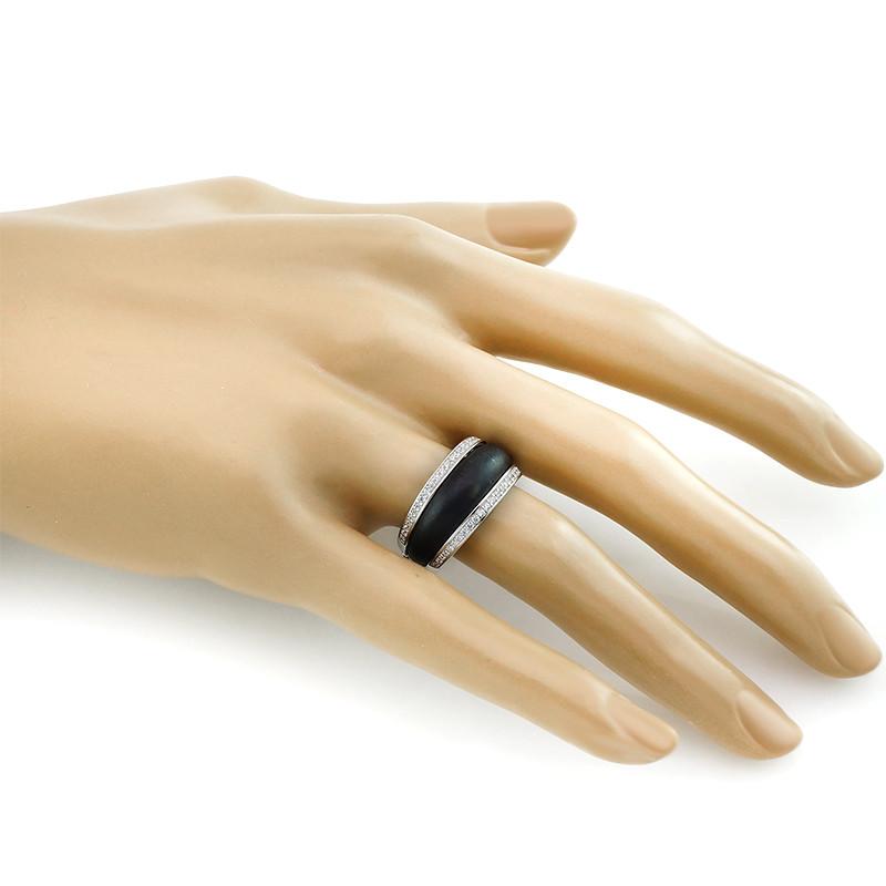 Кольцо с керамикой матовой серебряное – Mirserebra925.ru