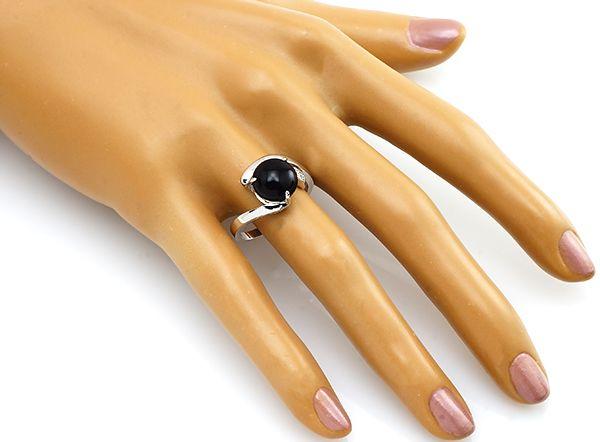 Кольцо с агатом из серебра 925 пробы
