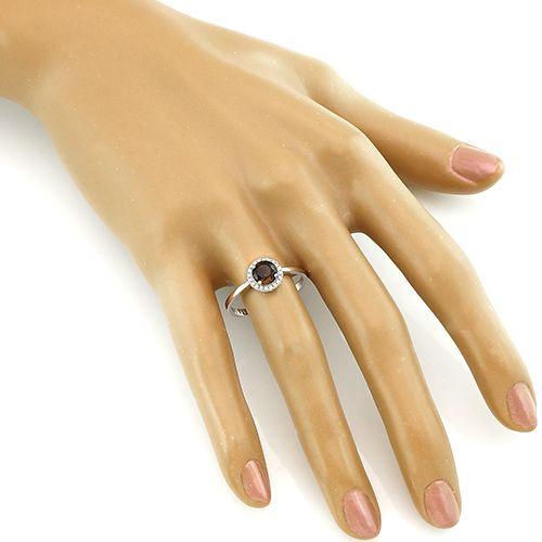 Кольцо с раухтопазом – Mirserebra925.ru