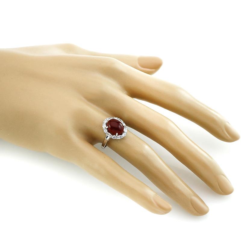 Кольцо с сердоликом ‒ Mirserebra925.ru