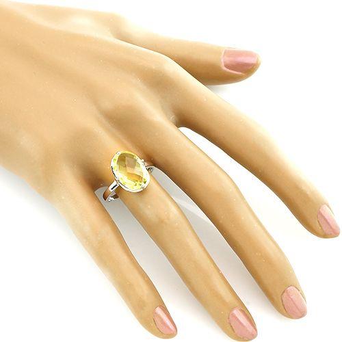Кольцо с лимонным топазом – Mirserebra925.ru