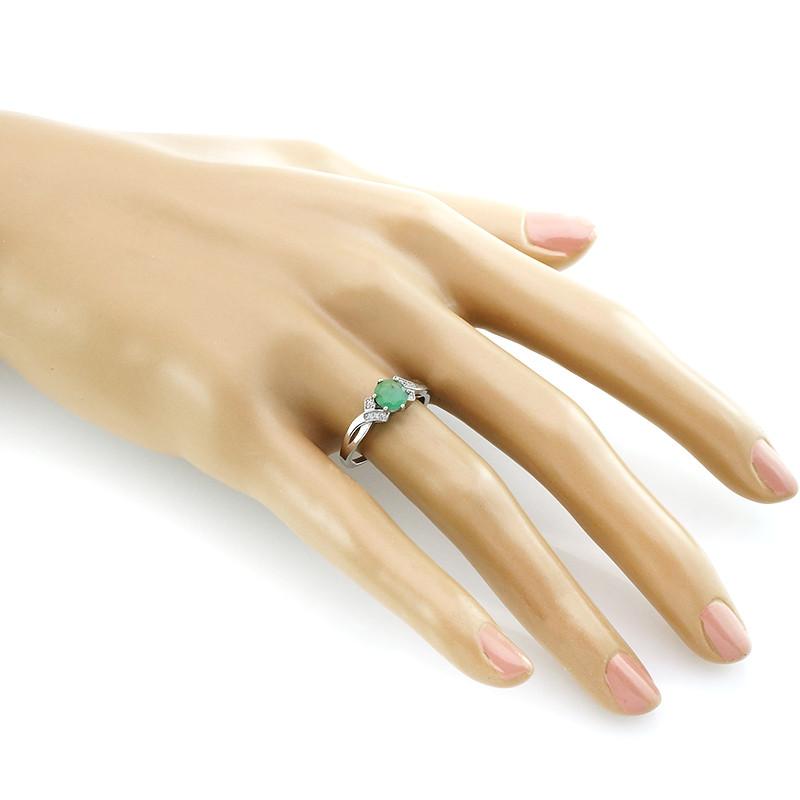 Кольцо с изумрудом – Mirserebra925.ru